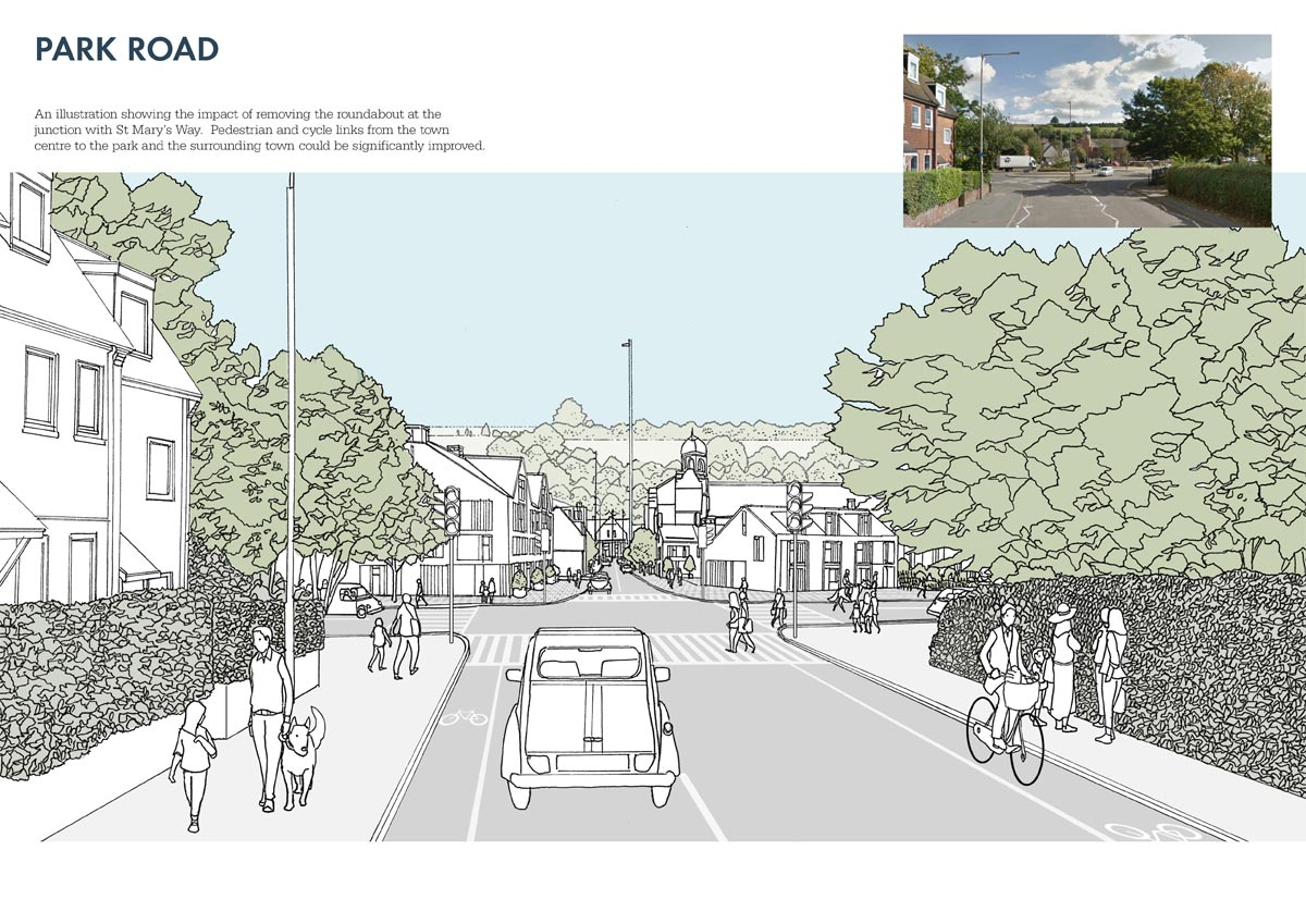 conceptual vision for Park Road, Chesham, within Chesham Masterplan 2017
